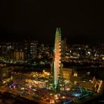 ホテル高層階からの夜景タイムラプス
